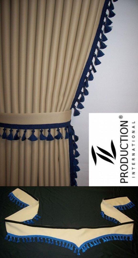 lkw gardinen mit scheibenborde orientel passend f r man tgs lx. Black Bedroom Furniture Sets. Home Design Ideas